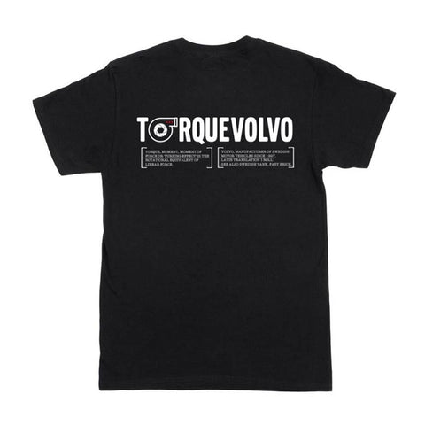 TorqueVolvo 'Meaning Of' Black T-Shirt