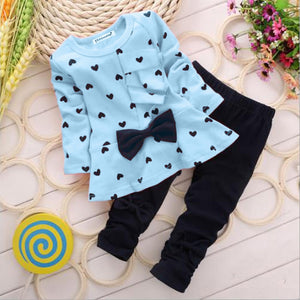 Spotted Heart Bow Fall Outfit