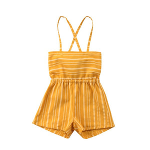 Striped Romper Jumpsuit - caspersboutique
