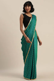 Ojas Green Satin Saree