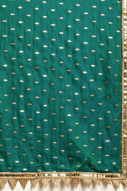 Satin Saree in Green