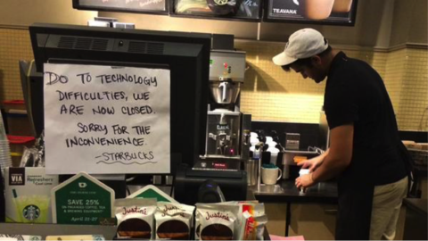 Not So Grande:  Free Coffee Served at Starbucks during Major POS Failure