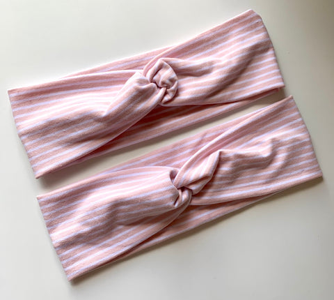 Pink Stripe Twist Headband