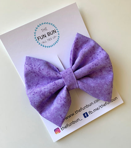 Purple Marble Bow