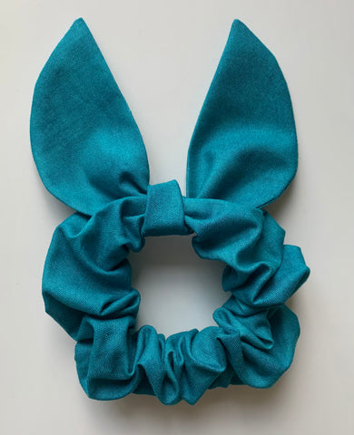 Teal Scrunchie + Bow