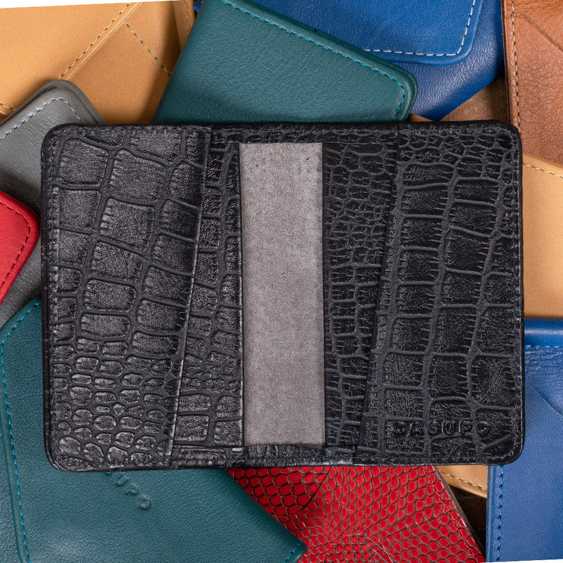 Crocodile leather wallet for men