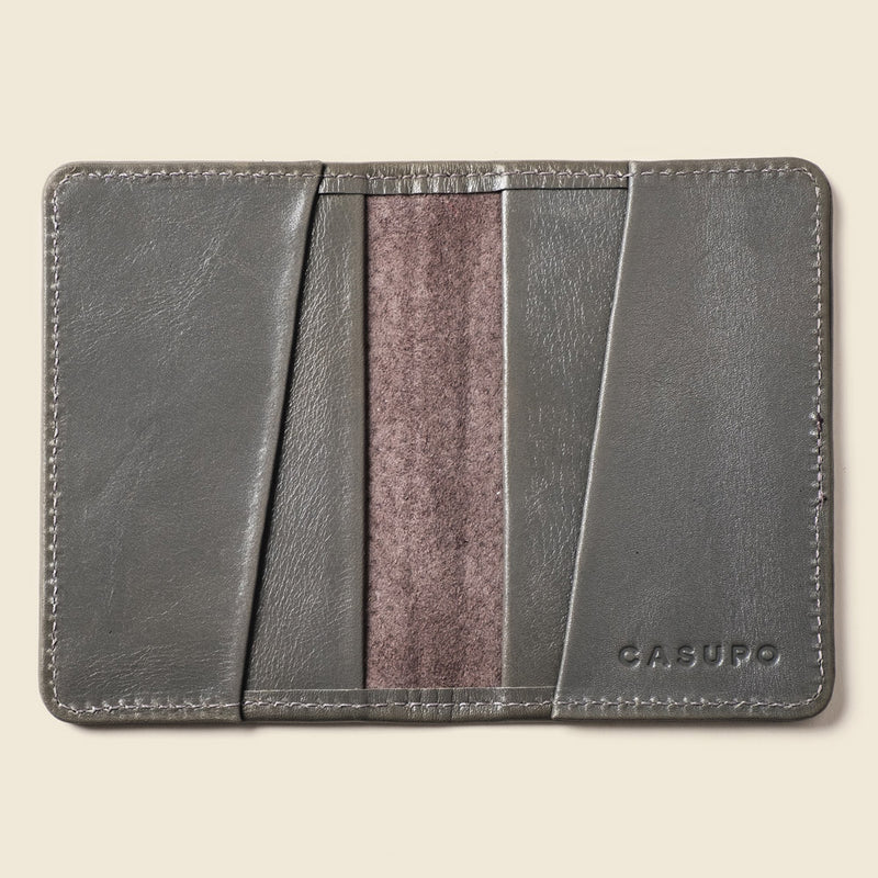 Grey bifold wallet for men