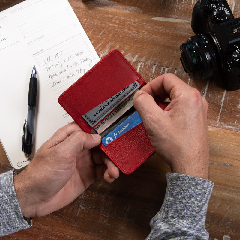 Sleek bifold wallet for cards and cash