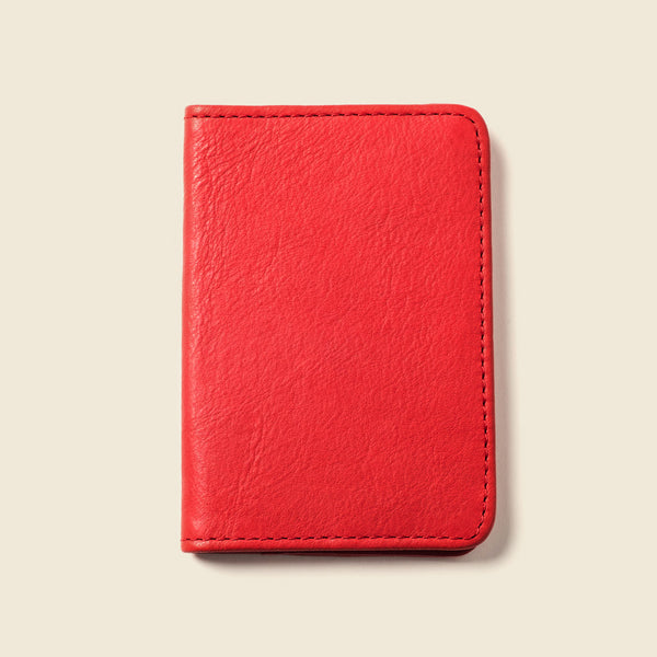 Red leather wallet for men
