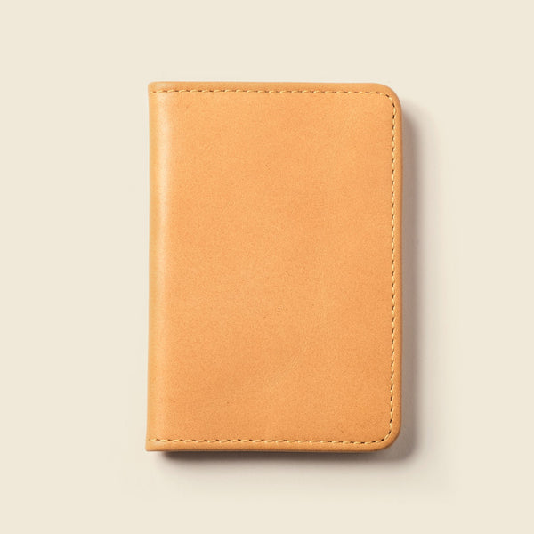 Natural leather wallet for men