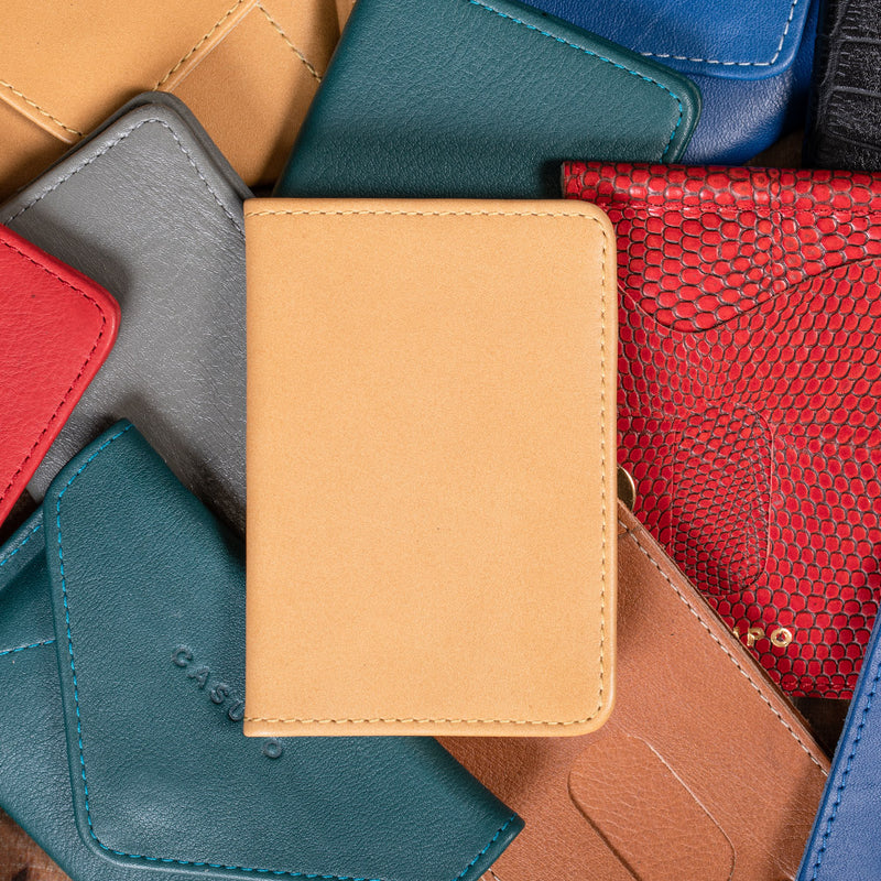 compact leather bifold wallet for women