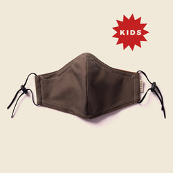 KID'S FACE MASK OLIVE / ORANGE