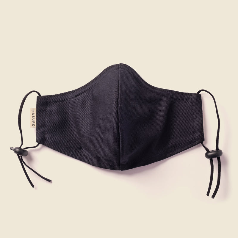 KID'S FACE MASK BLACK / BLACK