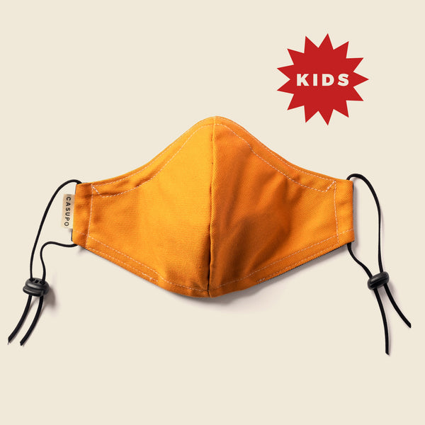KID'S FACE MASK GOLD / NAVY