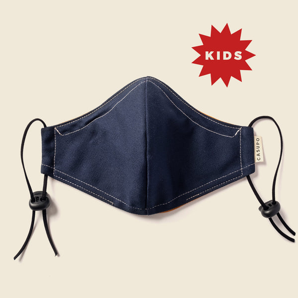 KID'S FACE MASK NAVY/ GOLD