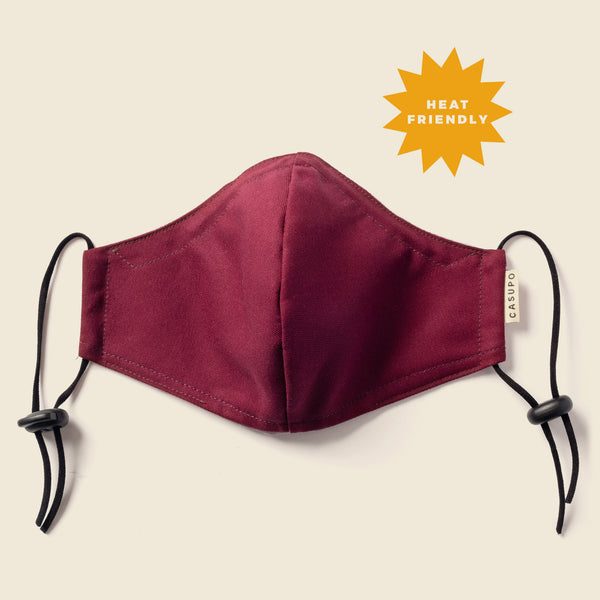 FACE MASK BURGUNDY / CHAMBRAY