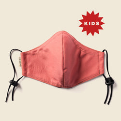 KID'S FACE MASK PEACH / BURGUNDY
