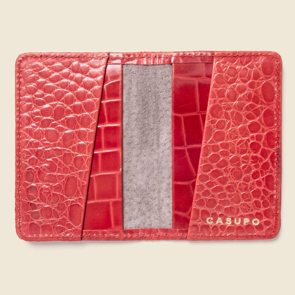 Compact Bifold - Red Croc