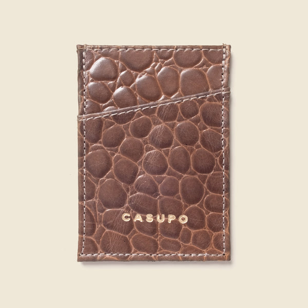 Minimalist Wallet - Chocolate Croc
