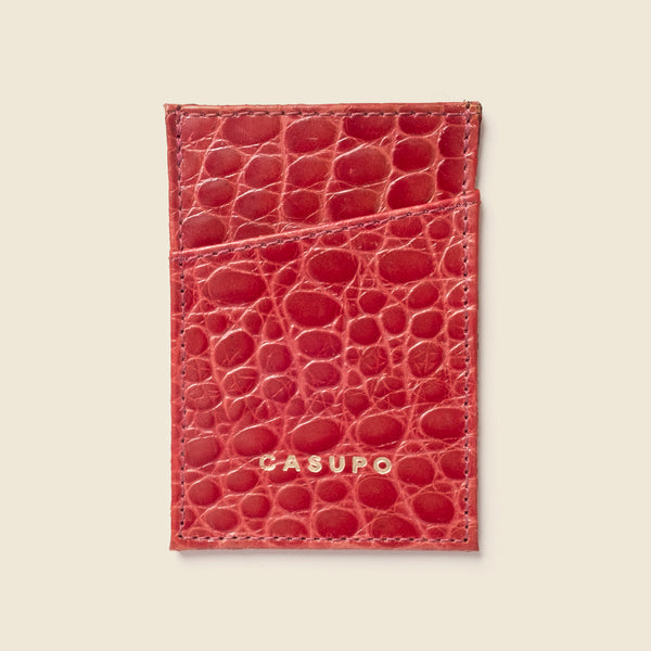 Minimalist Wallet - Red Croc