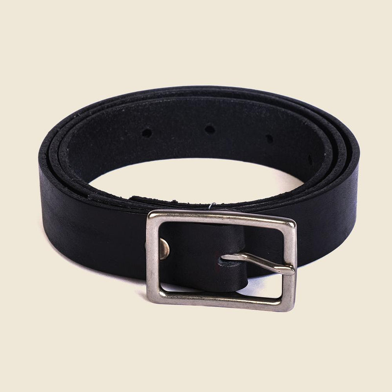 sleek black leather belt for men