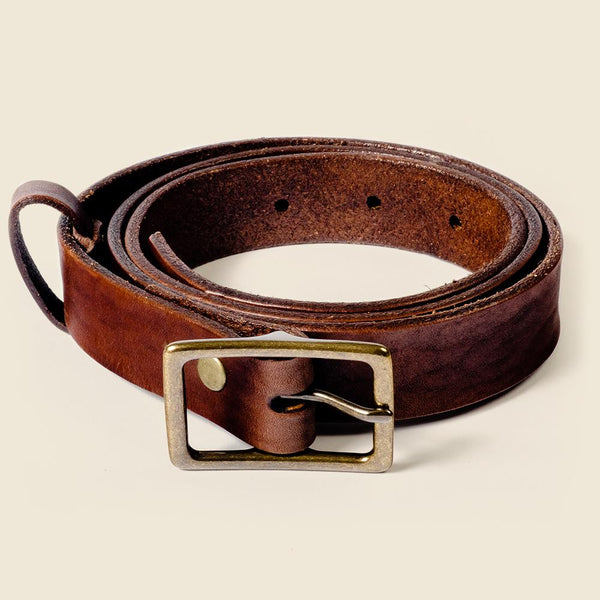 skinny leather belt for men