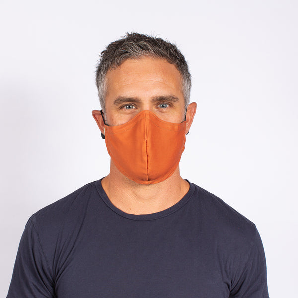 FACE MASK ORANGE / OLIVE