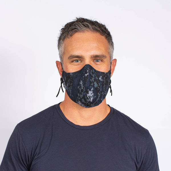 FACE MASK BLUE CAMO / NAVY