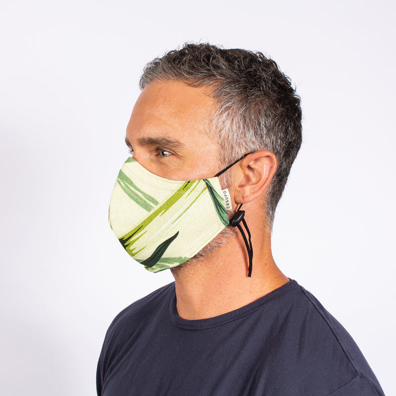 FACE MASK GREEN BAMBOO