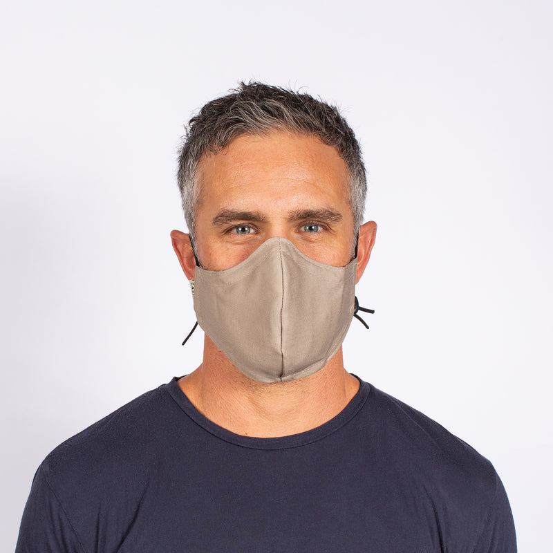 FACE MASK KHAKI / NAVY