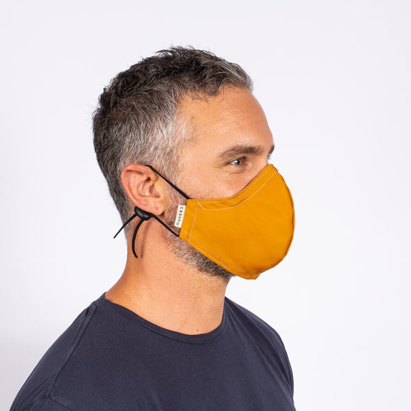 FACE MASK GOLD / NAVY