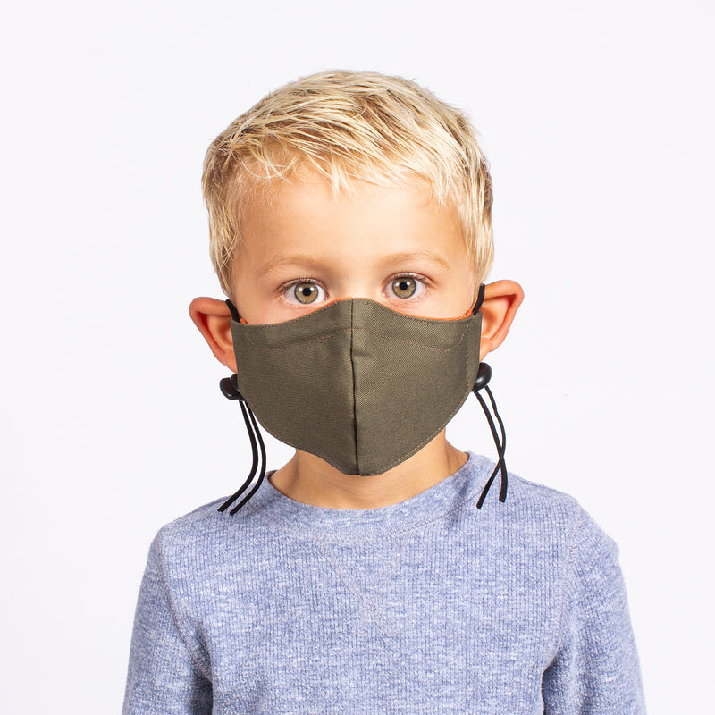 KID'S FACE MASK ORANGE / OLIVE