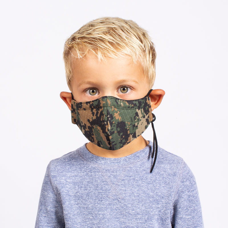 KID'S FACE MASK ARMY CAMO