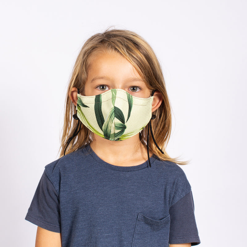 KID'S FACE MASK GREEN BAMBOO