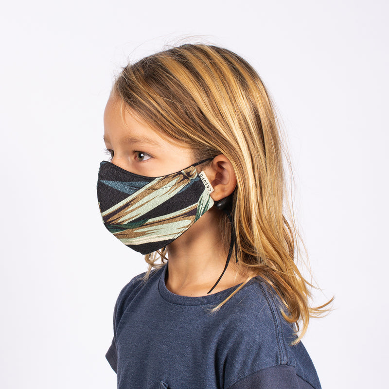 KID'S FACE MASK BLACK BAMBOO