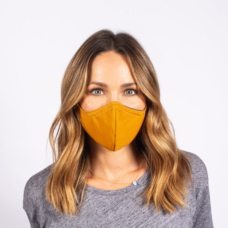 FACE MASK NAVY / GOLD