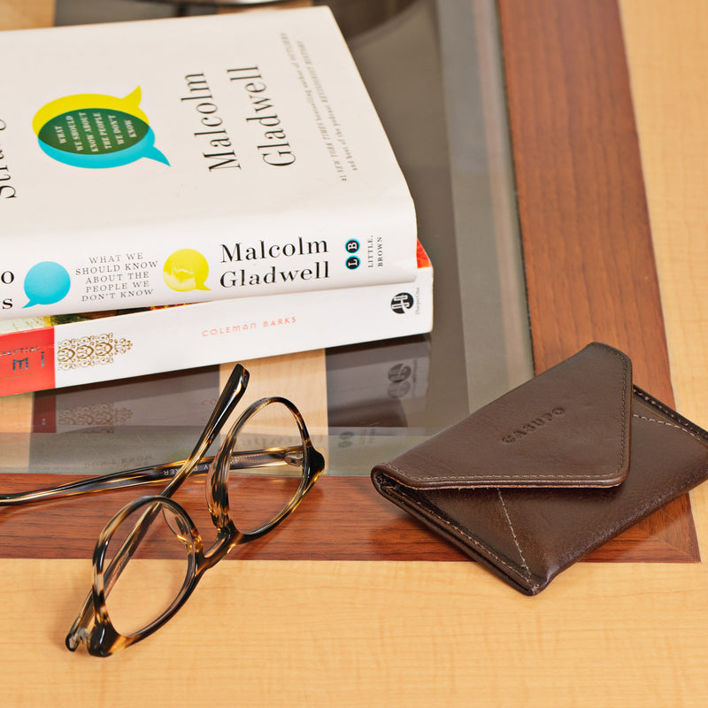 Mini Envelope Wallet - Brown
