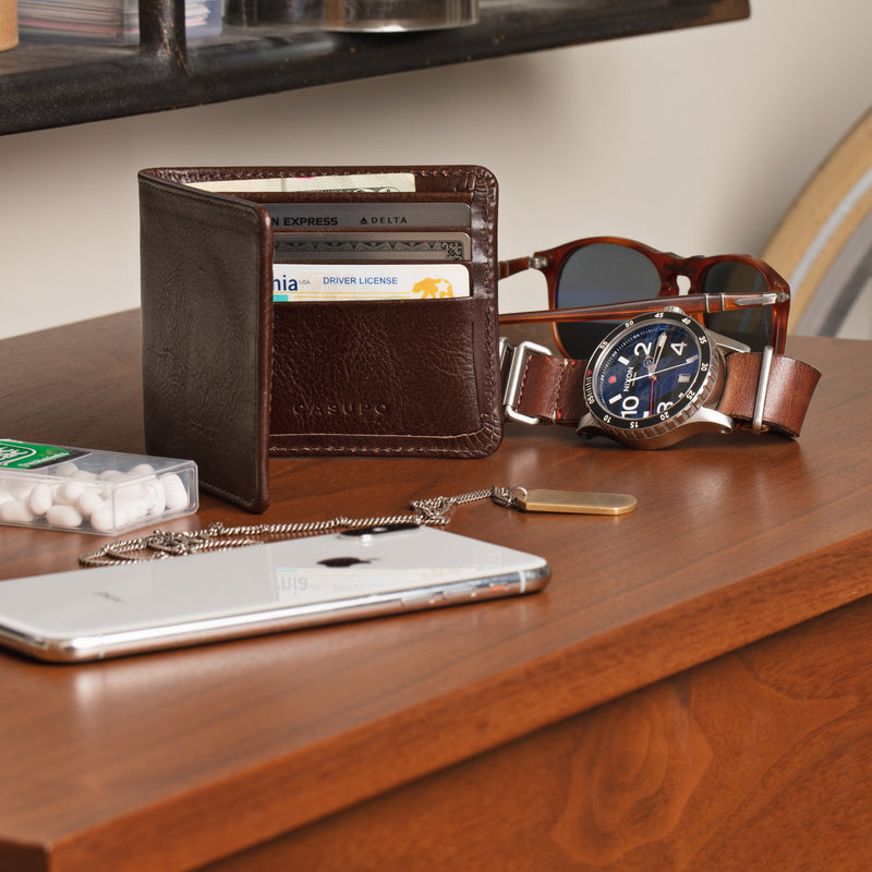 Large Billfold Wallet - Brown