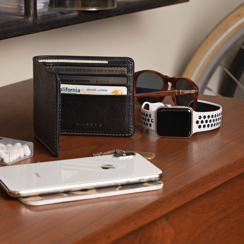 Large Billfold Wallet - Black
