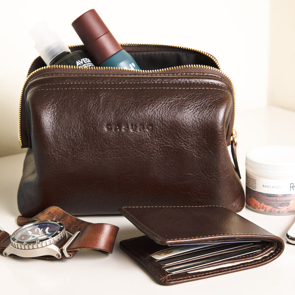Toiletry Travel Bag - Brown