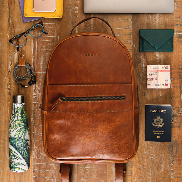 Commuter Backpack - Cognac