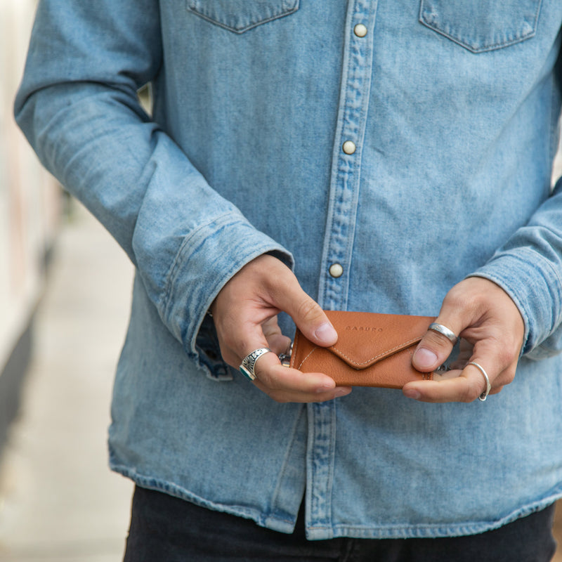 Mini Envelope Wallet - Whiskey