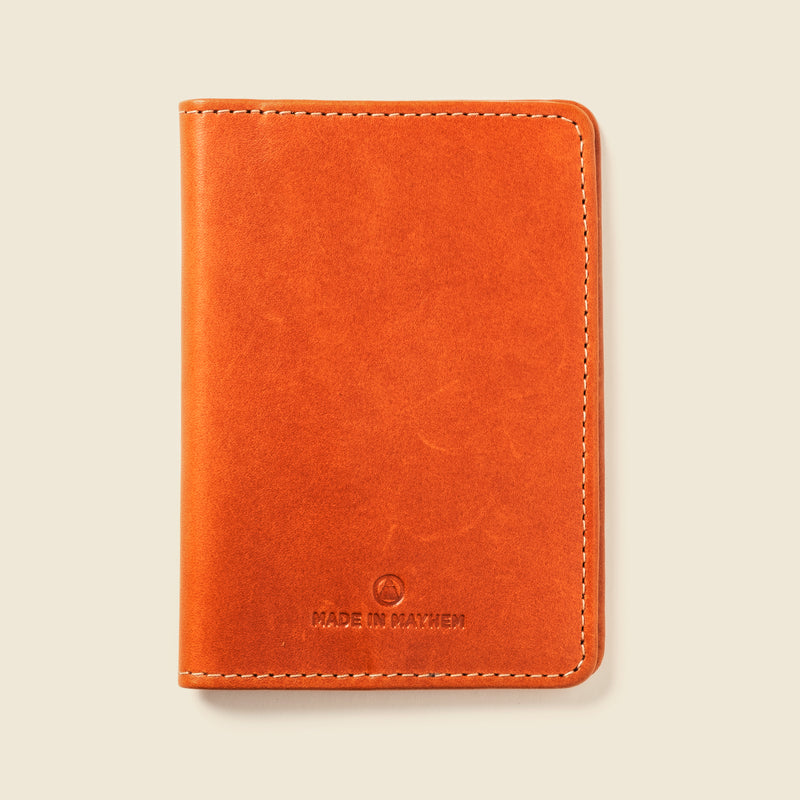 brown passport cover for men