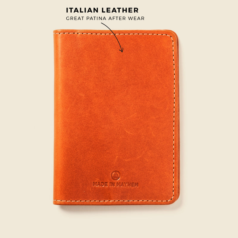 leather passport wallet for travelers