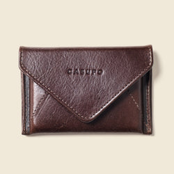 sustainable brown leather wallet for women