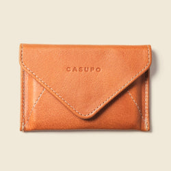 Vegetable tanned leather wallet for women