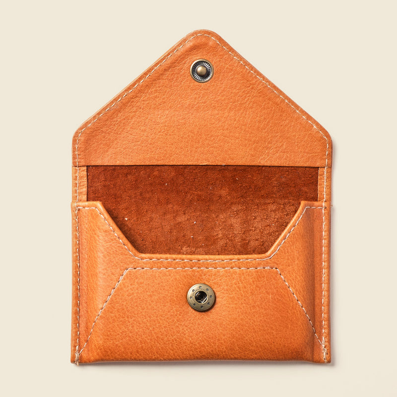 Vegetable tanned leather wallet for men