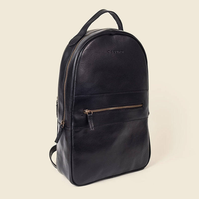 Nice leather backpack made with sustainable leather