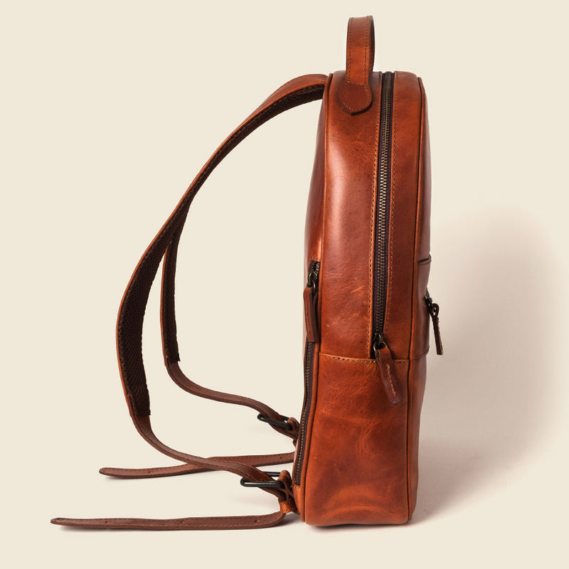 lightweight leather backpack for women