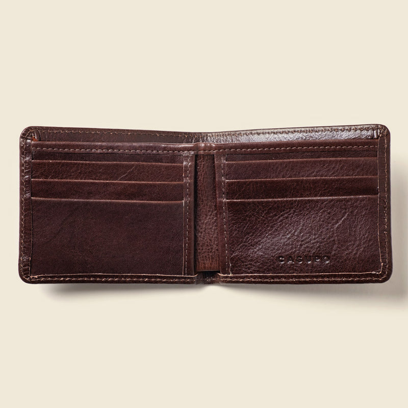 sustainable leather wallet for men